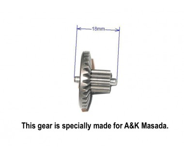 Hardening Extreme High Torque Gear Set for A&K Masada, Barrel length 455mm or less (32:1, 300%)