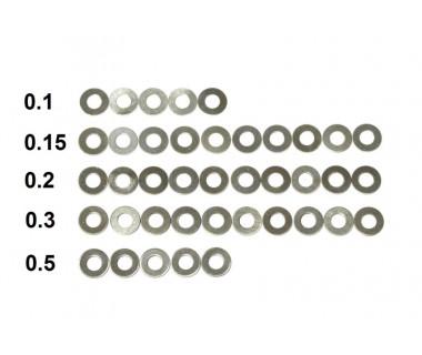Washers (0.1x5, 0.15x10, 0.2x10, 0.3x10, 0.5x5)