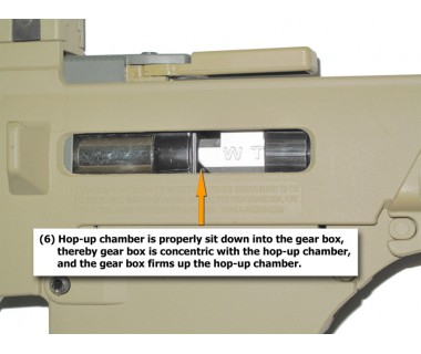 G36 series AEG Hop-up chamber, o-ring, compressor, hop up bucking and rivet