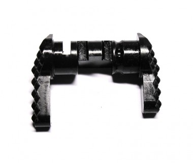 M4 (KSC System7 Two) CNC Hardened Steel Ambi Selector S style (L-Long, R-short)