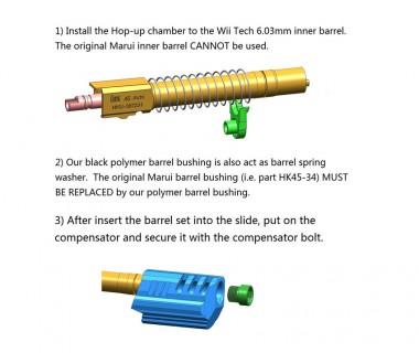 HK45 (T.Marui) CNC Hitman Comp set