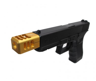 Glock (T.Marui) CNC Aluminium 3-Cut A-style Comp Gold