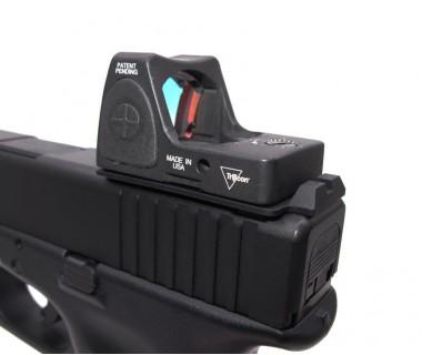 Glock series (T.Marui, WE) CNC Aluminium RMR Slim Mount & Rear Sight