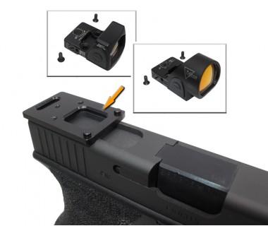 Glock series (T.Marui, WE) CNC Aluminium SRO/RMR Mount