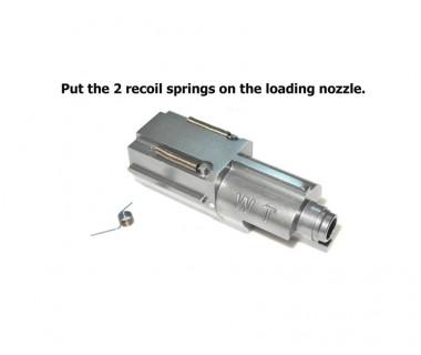 MP9 (KSC-System 7) CNC 6063 Aluminium 134a Loading Nozzle