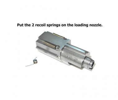 MP9 (KSC-System 7) CNC 6063 Aluminium Top Gas Loading Nozzle